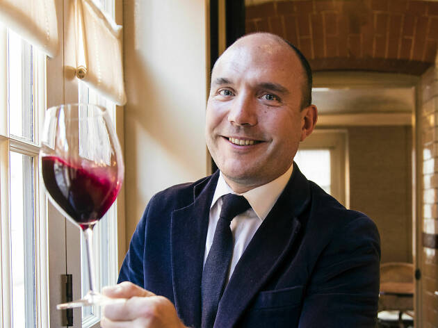 Romain Audrerie, a sommelier from Chiltern Firehouse