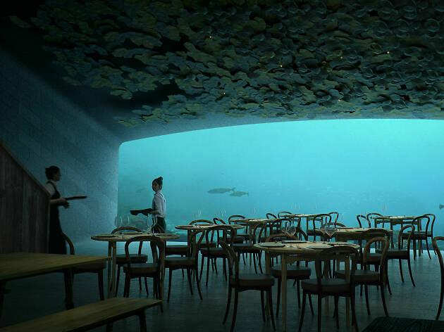 Under, Norway's underwater restaurant