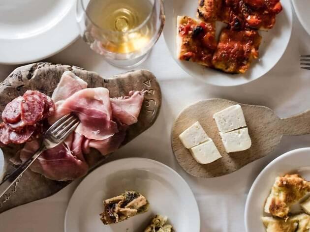 Katie Parla Food of the Italian South dinner at Felix Evan Funke in Venice Los Angeles