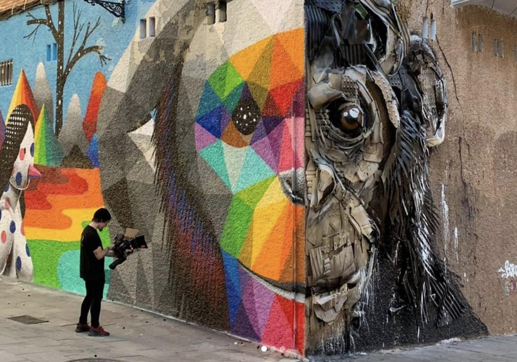 Mural Okuda y Bordalo