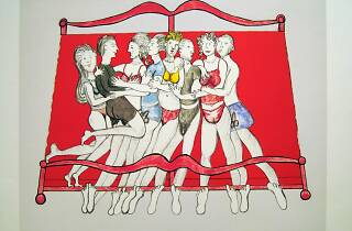 Louise Bourgeois. Eight in bed (2000)