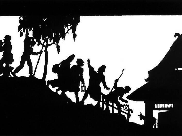 Contar histórias com sombras chinesas