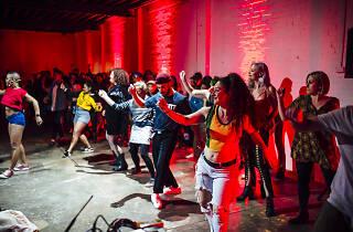 People dancing at Commune.