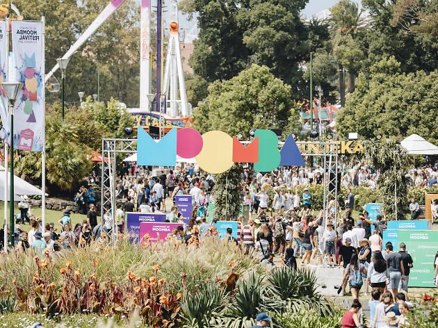 Revellers at the Moomba Festival