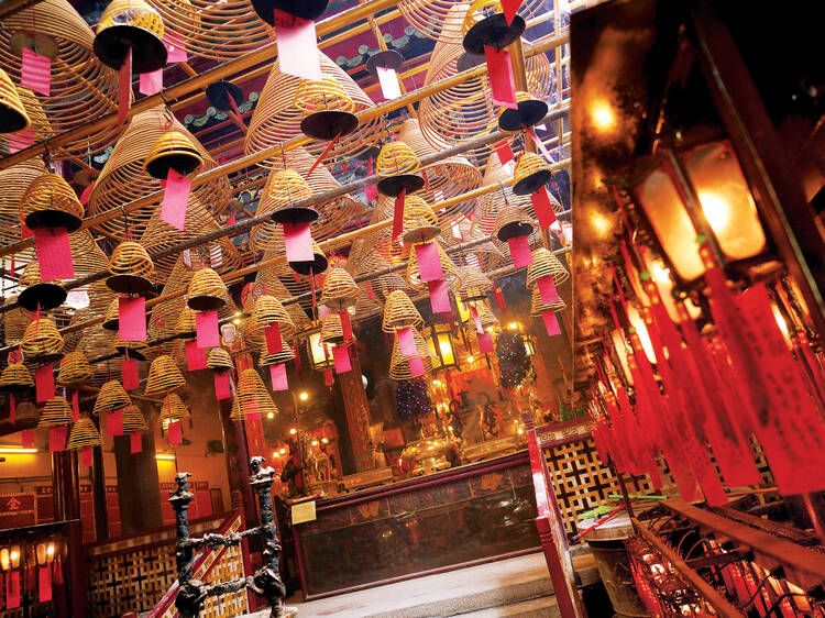 Find serenity at Man Mo Temple