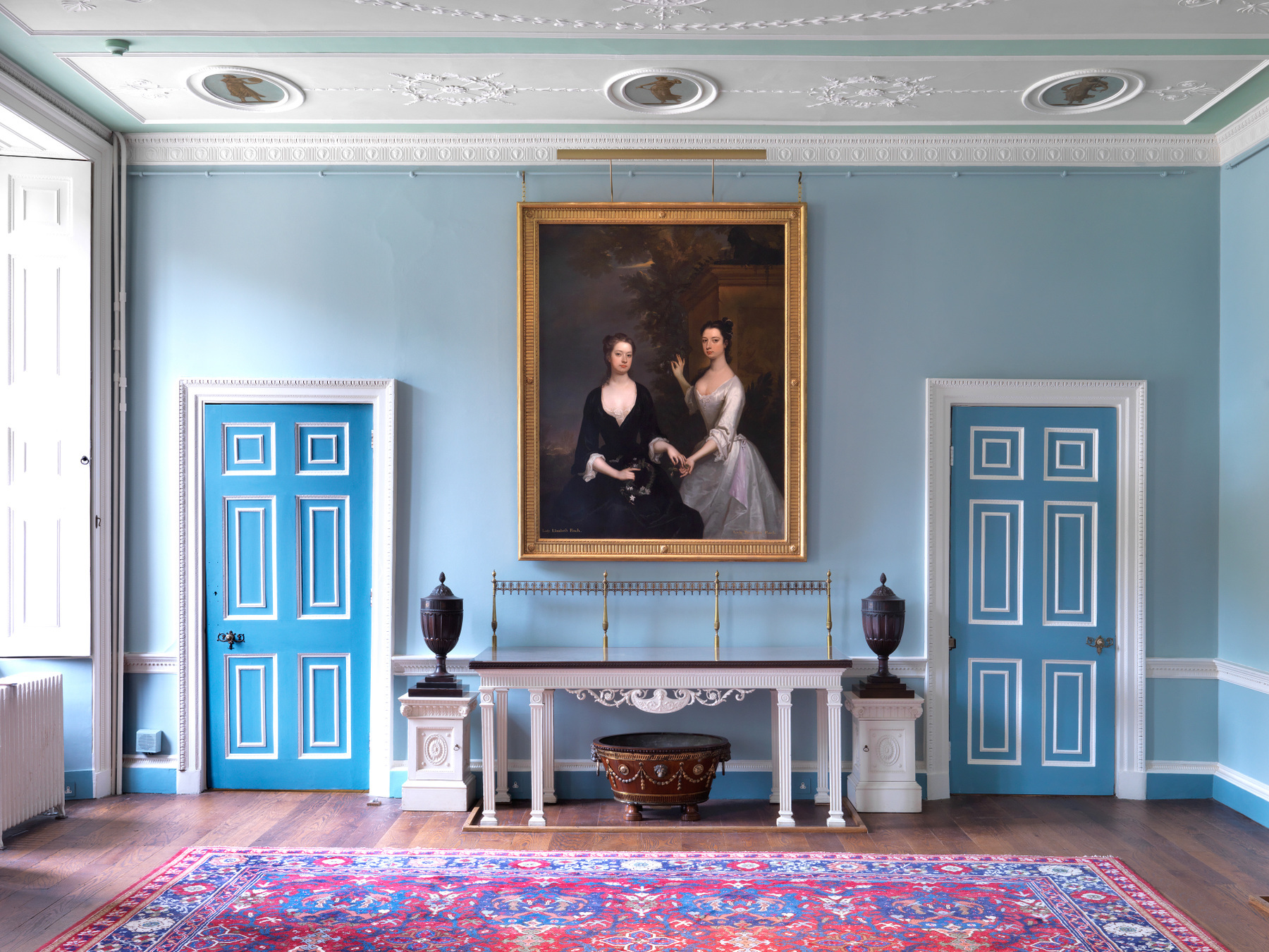 blue room interior at kenwood house