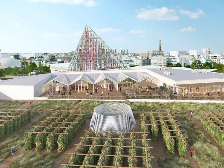 Drop in and dine out at Paris's epic urban farm