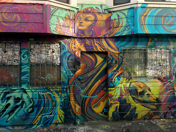 The murals of Clarion Alley
