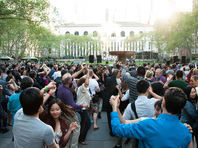 Dance Party in Bryant Park