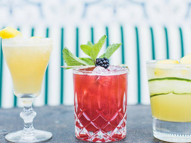 Patio drinking and happy hour at The Henry in West Hollywood