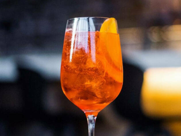 Spritz and Italian cocktails and food at Sixth+Mill in the Arts District