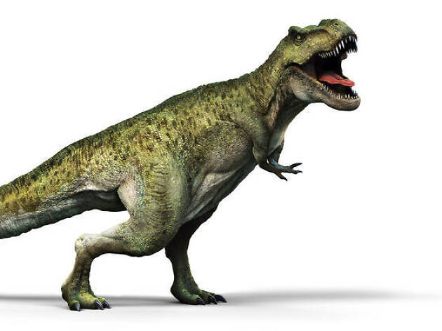 Rendering of a green dinosaur