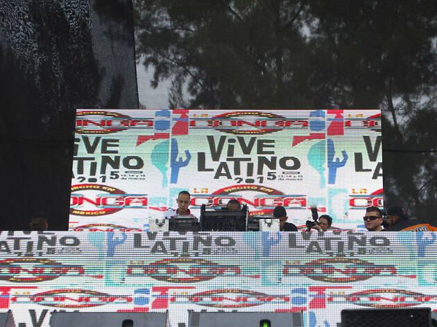 Carpa electrónica en Vive Latino