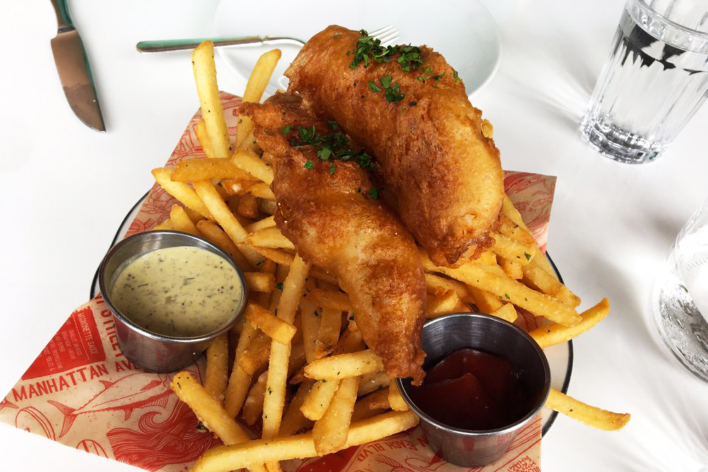 Fish and Chips at Fishing with Dynamite in Los Angeles
