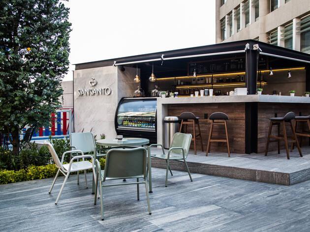 Sansanto Café, un local con café veracruzano en Santa Fe