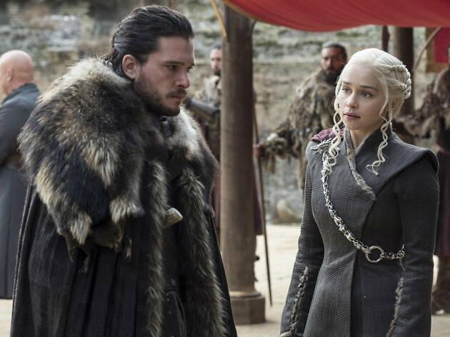 Daenerys Targaryen y Jon Snow de Game of Thrones