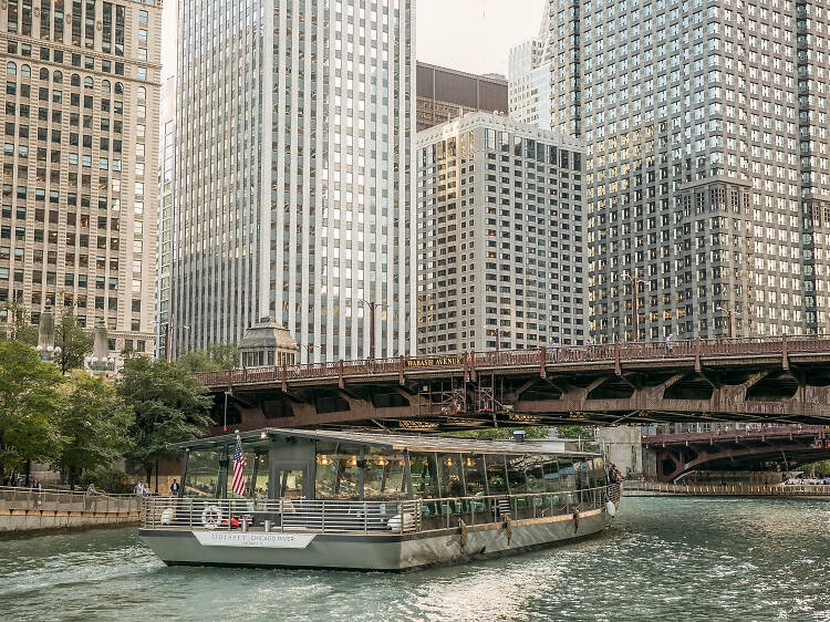Dinner on a boat: Odyssey Chicago River
