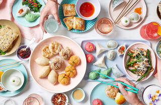 Table of food , Yum Cha at Bodhi Restaurant Bar