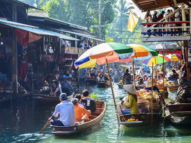 La ciudad de Bangkok y sus canales