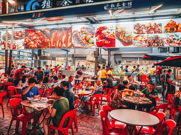 Los mercados de comida en Kuala Lumpur, Malasia