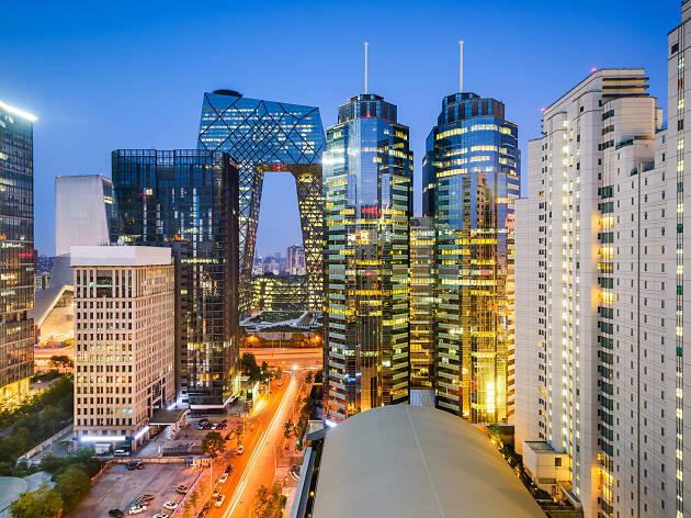 Pekín y sus grandes edificios, China