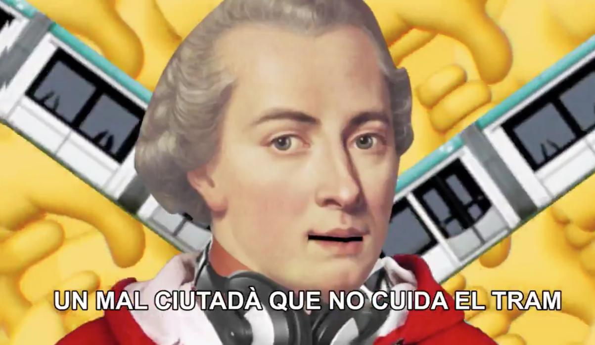 Kant contra els incívics del tramvia