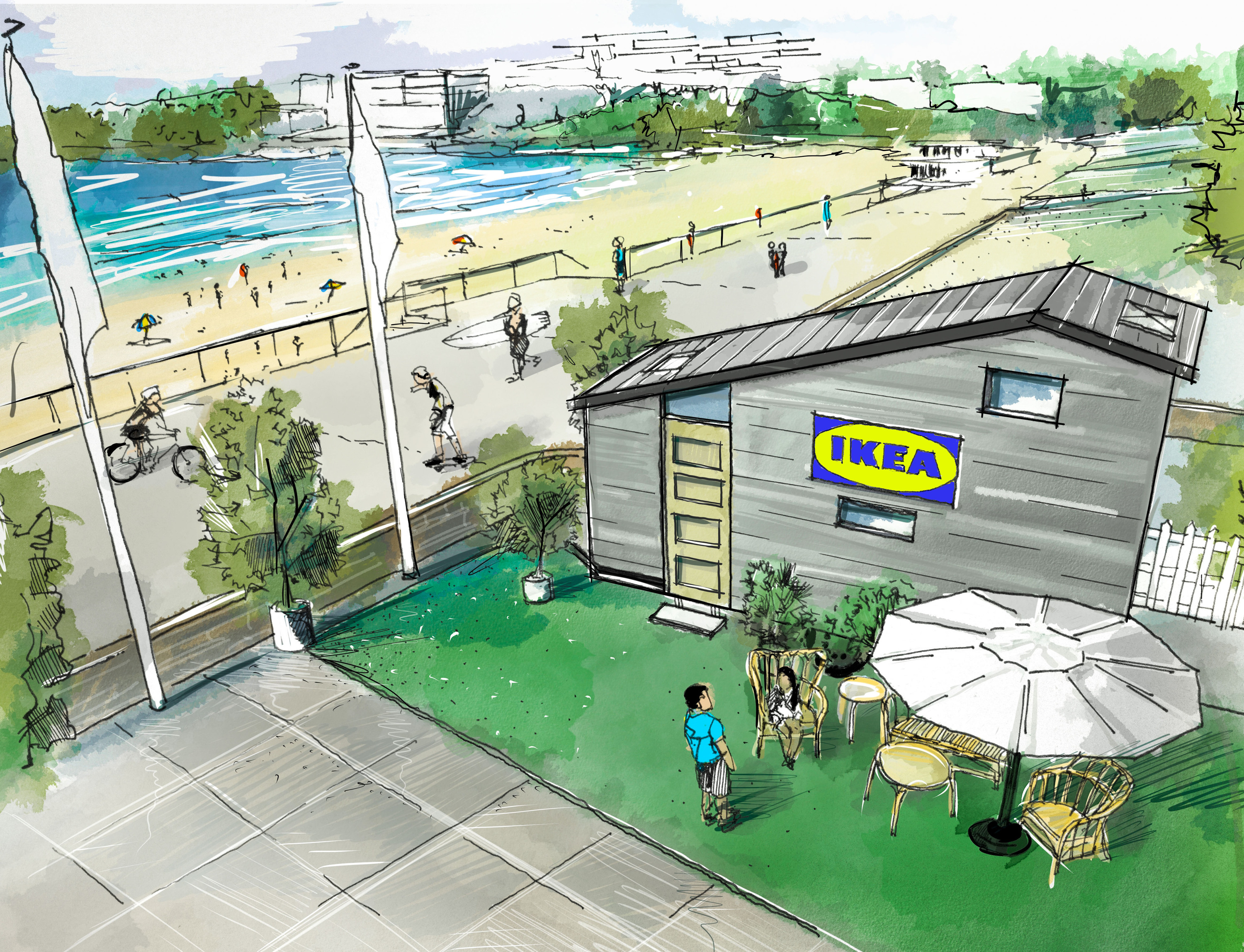 An IKEA tiny home is popping up at Bondi Beach
