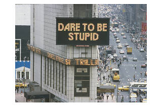 Gretchen Bender Military Escalation-Dare to be Stupid, 1986