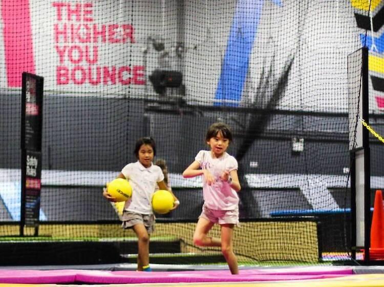 Jump around at Bounce Singapore