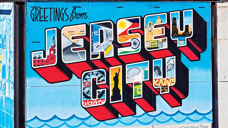 Greetings From Jersey City mural
