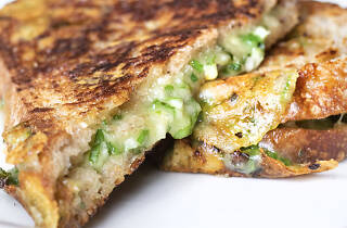Nancy Silverton grilled cheese at Pizzeria Mozza Los Angeles