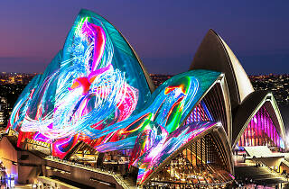 Image of the Opera House at Vivid.