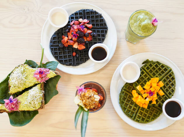 Pulpa Amor Líquido, cafetería vegana en la Juárez con coloridos smoothies