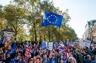 Brexit protesters gather in central London
