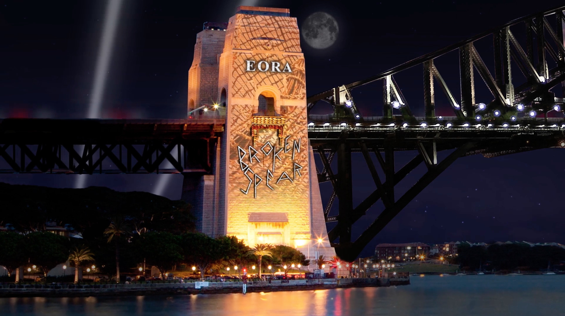 An artists impression of the Vivid light installation on the Sydney Harbour Bridge.