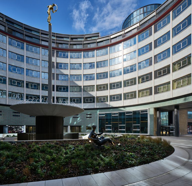 Helios Courtyard at the Television Centre, BBC, London