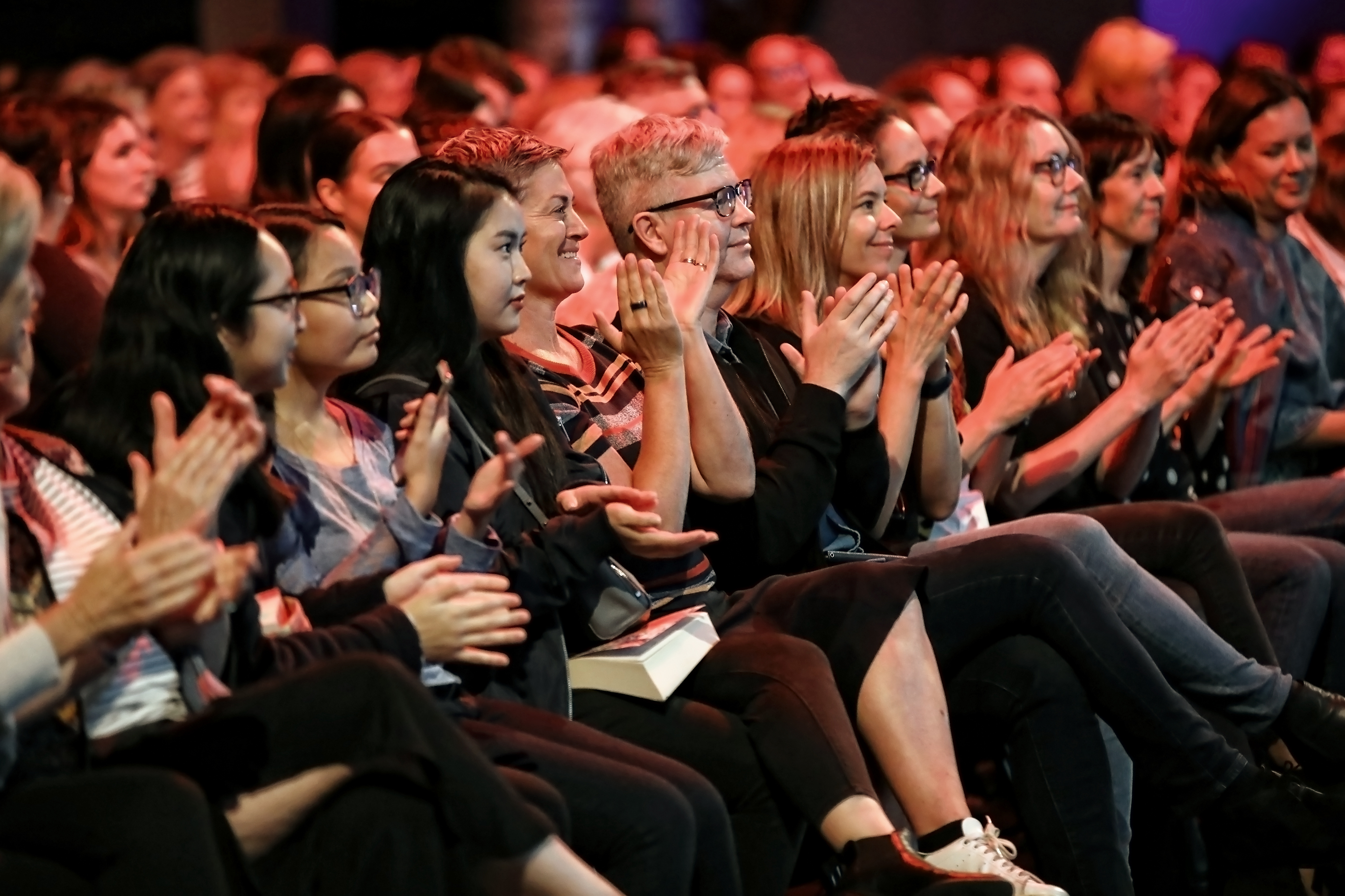 People clapping at a Sydney Writers' Festival talk