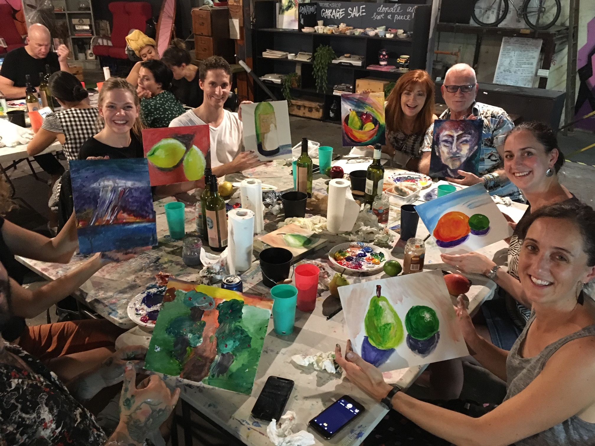 Boozy Finger Painting