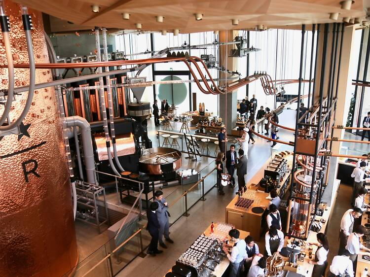 Explore the expansive Starbucks Reserve Roastery