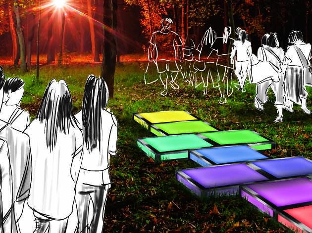 Artist impression of a Vivid Light installation.