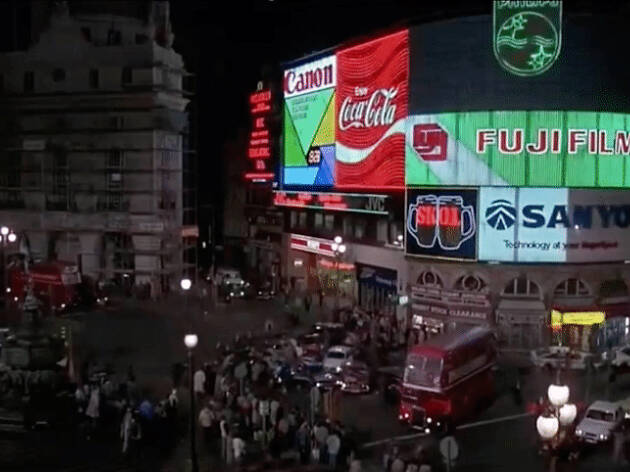A still from 'American Werewolf in London' in Piccadilly Circus
