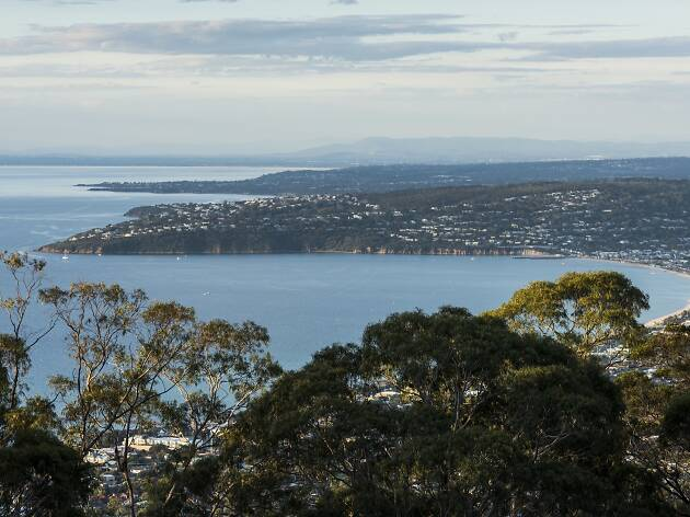 View over Port Phillip Bay from Arthurs Seat