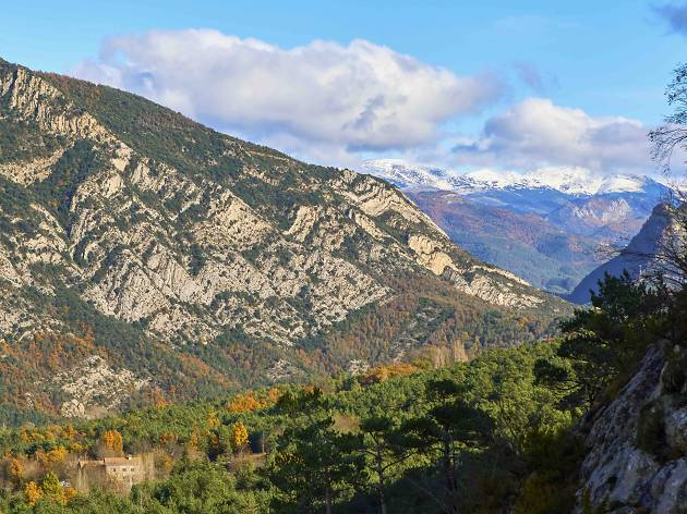 Vallcebre mountains in autumn