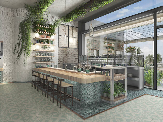 A mock up of the LA cannabis restaurant