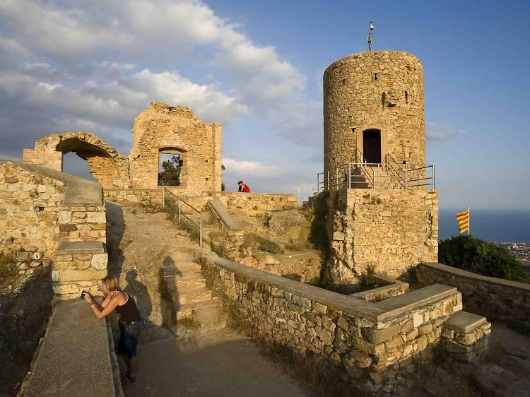 Subida en el castillo de Burriac