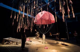 ( Mish Meijers & Tricky Walsh 'The Crocker Land Expedition' 2018 at Carriageworks. Photograph: Anna Kucera)