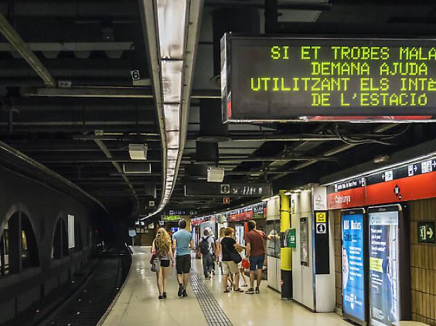 Pantallas del metro de BCN