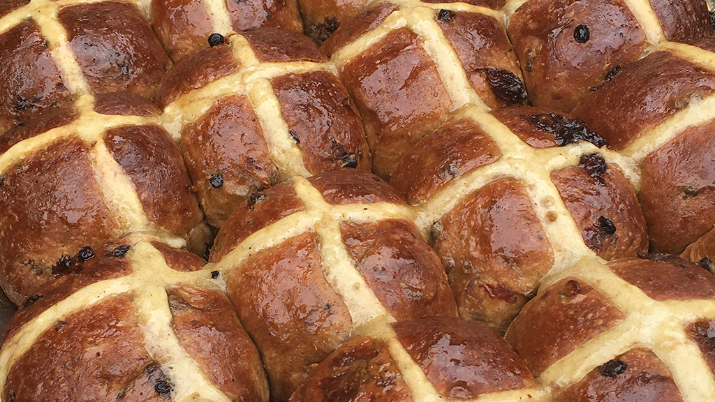 Hot cross buns at Andy Bowdy Pastry