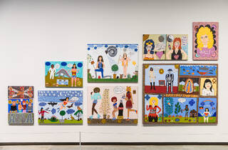 (Kaylene Whiskey artworks at MCA. Photograph: Anna Kucera)