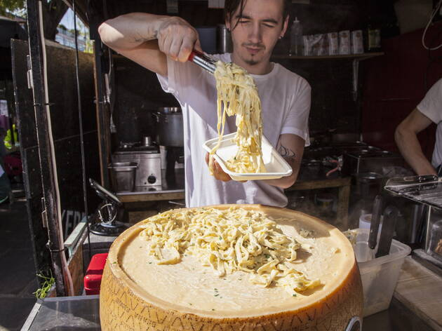 Fettuccine Alfredo The Cheese Wheel